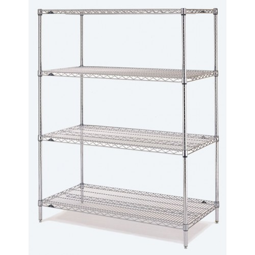 4-tier chrome wire shelving-500x500